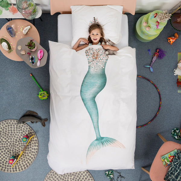 SNURK USA - MERMAID - KIDS DUVET COVER SET