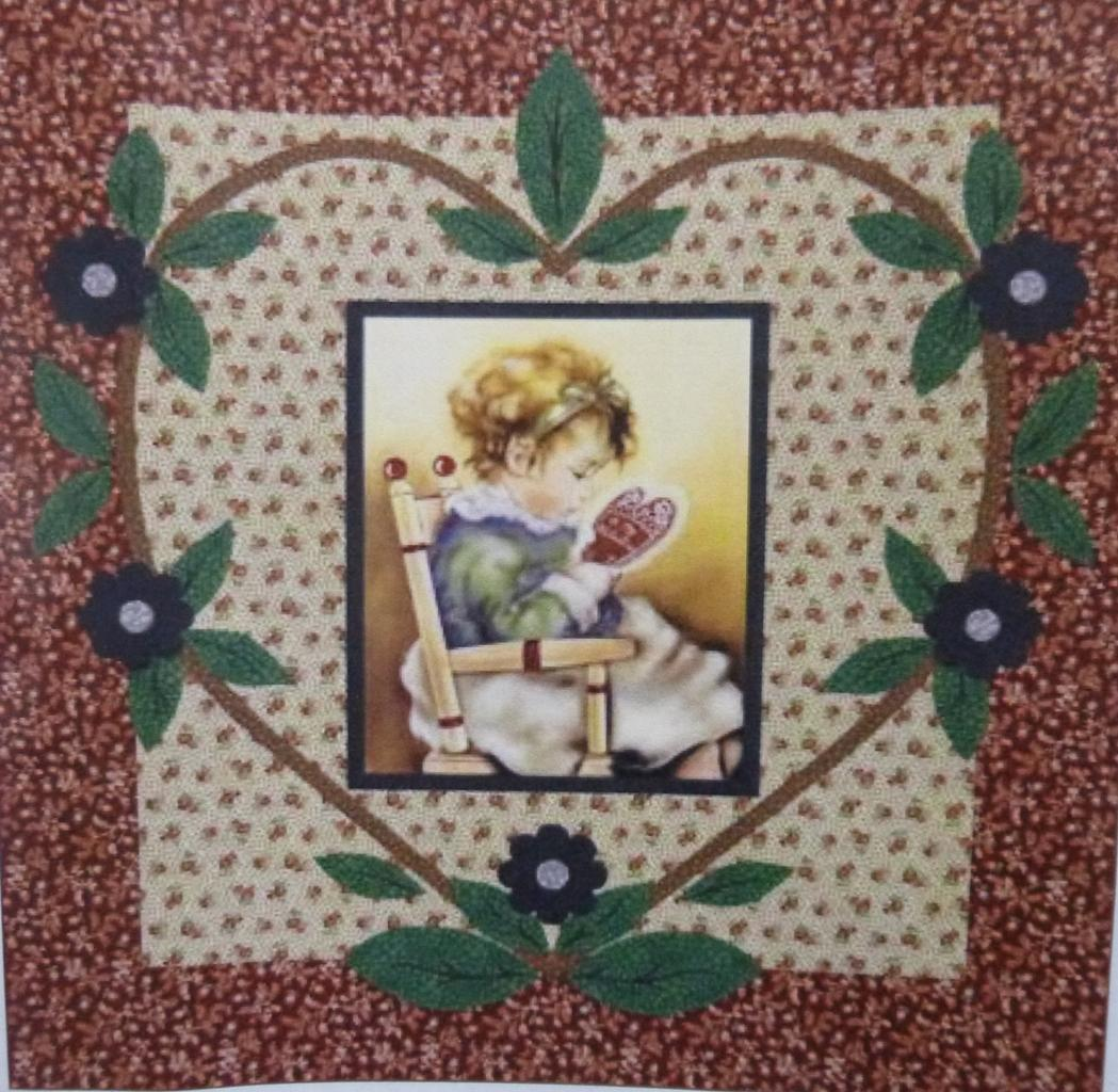 "Valentine Girl Quilt Kit, 56"" x 58"",  Backing Included."