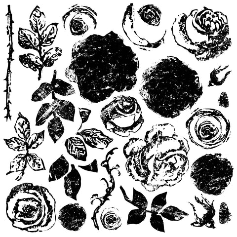 IOD Painterly Roses Decor Stamp