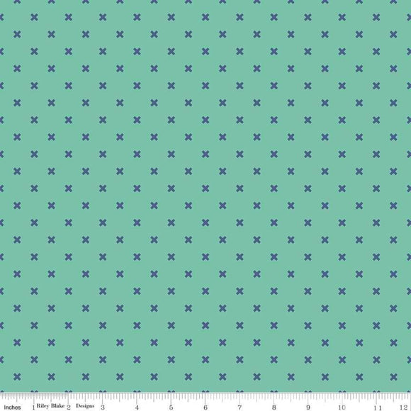 Lori Holt Riley Blake fabric bee basic x teal
