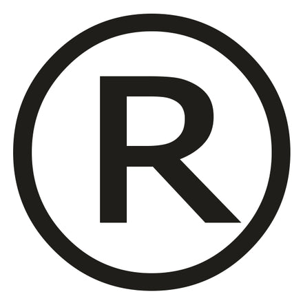 Where should the trademark symbol go?