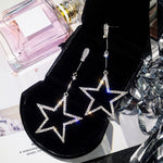 Crystal Star Drop Earrings