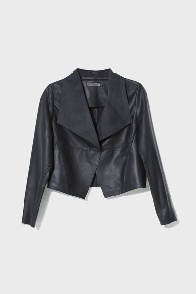 Black Fine Leather Jacket