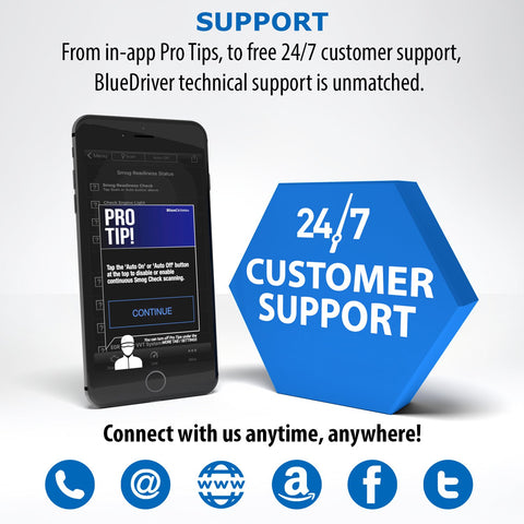 Image of BlueDriver Bluetooth Pro OBDII Scan Tool for iPhone & Android