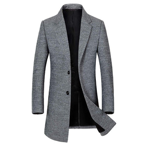 Men's Classic Single Breasted Wool Walker Coat Stylish Jacket - Aptro Fashion