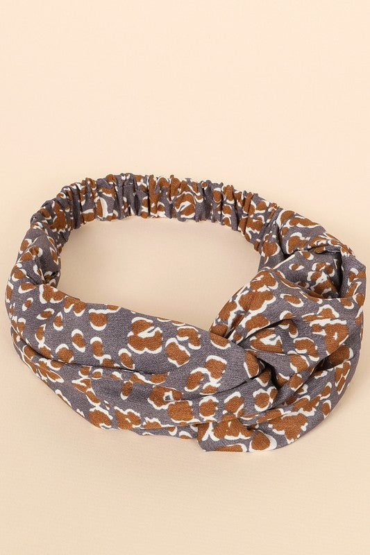 The Vida Two-Tone Leopard Headband