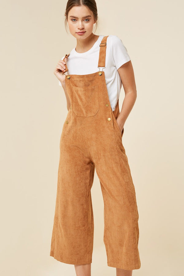 The Imogen Wide Leg Corduroy Overalls