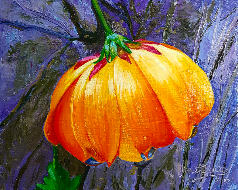 Yellow Flower Oil Painting