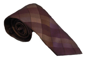 Purple Check Tie | Brown Check Necktie