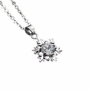 SUSENSTONE Women Snowflake Crown Butterfly Owl Pendant Necklace Chain Necklace Jewelry