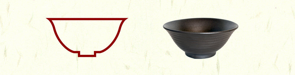 Ramen Bowl Shape Koudaidon High Foot Ramen Bowl