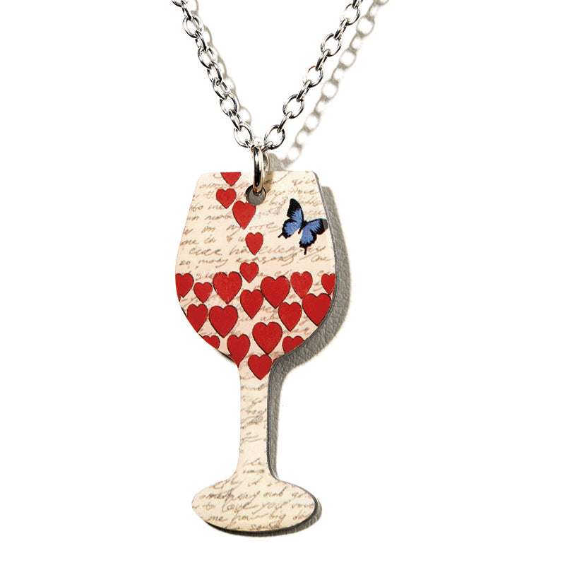 Butterfly Wine Necklace - Cheeryos Jewelry