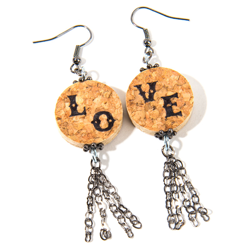 LO-VE Cork Earrings - Cheeryos Jewelry
