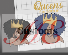 Queens Are Born SVG Design for Women's Full-Figure Dress - ME Customs, LLC
