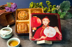 Assorted Large Moon Cakes (4) -Tin Gift Box