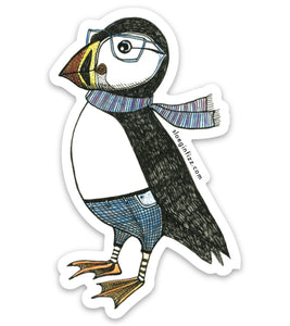 Dapper Puffin Vinyl Sticker