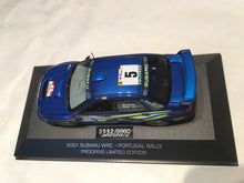 Load image into Gallery viewer, Autographed Prodrive Limited Edition 2001 Subaru WRC Portugal Rally 1:43 Scale