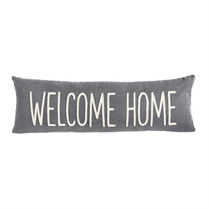 Welcome Home Washed Canvas Pillow