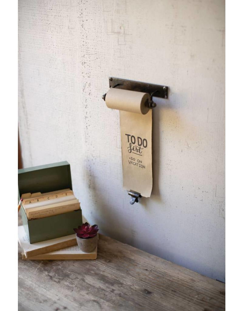 Rustic Hanging Note Roll