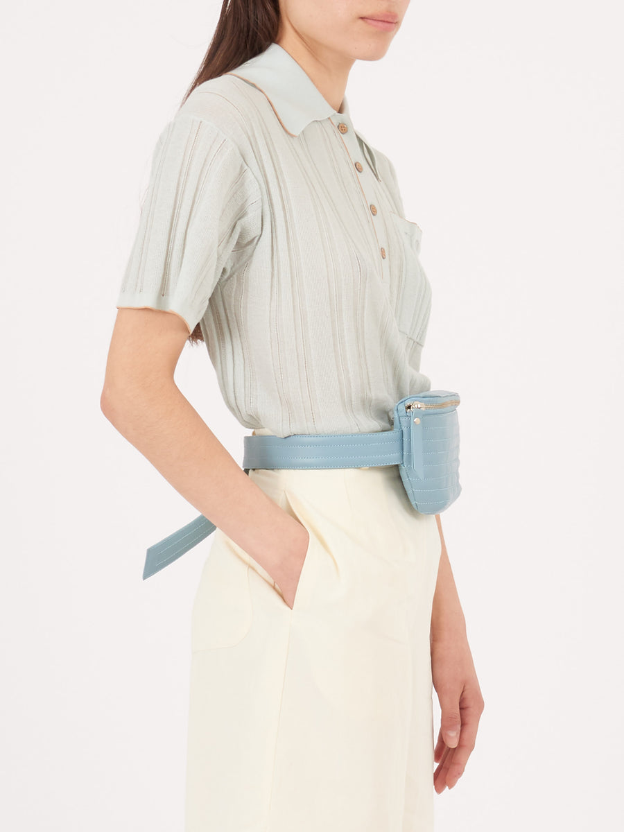Beklina-Blue-Ribbed-Fanny-Pack-on-body