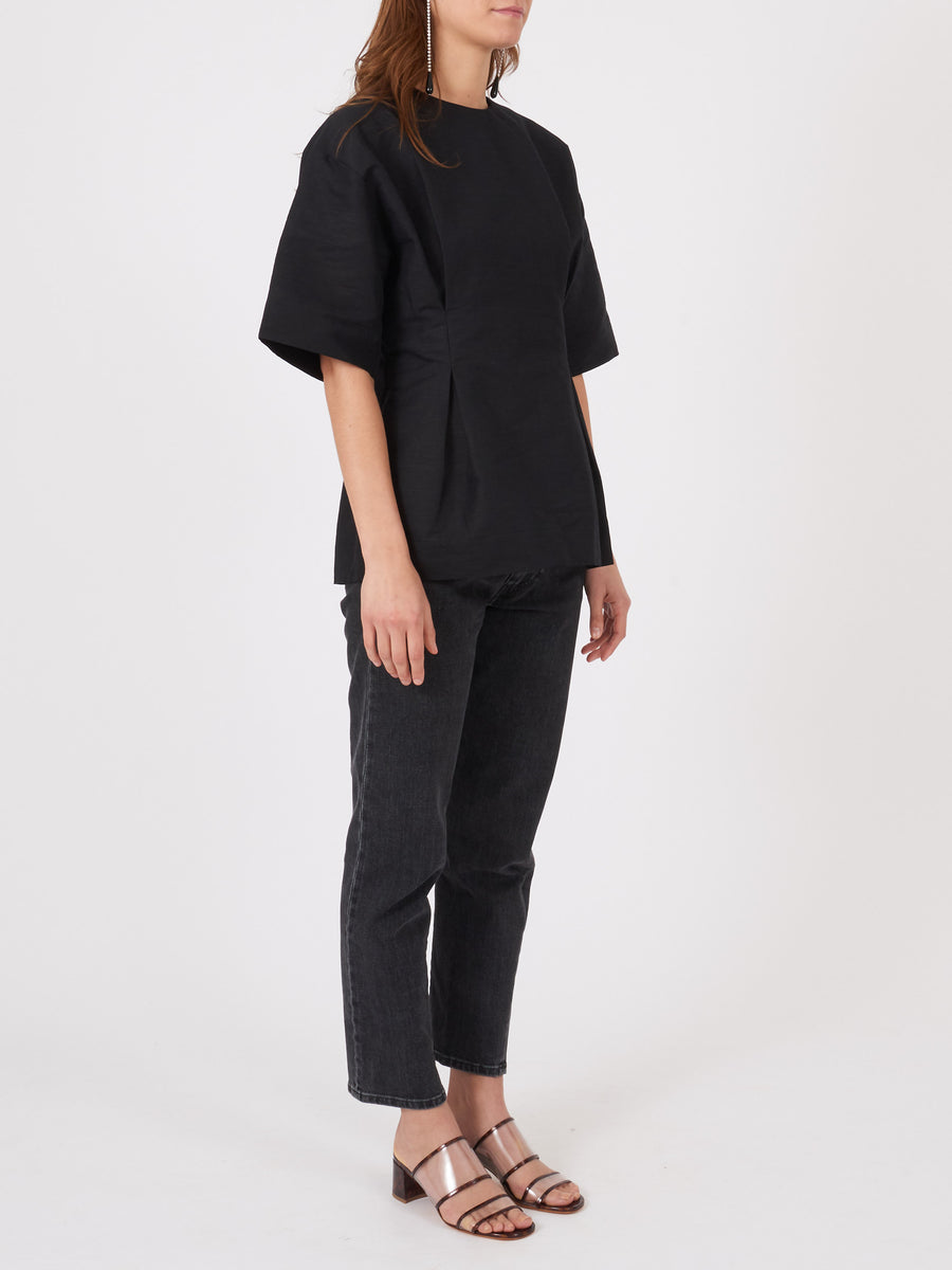 toteme-Black-Loano-Blouse-on-body