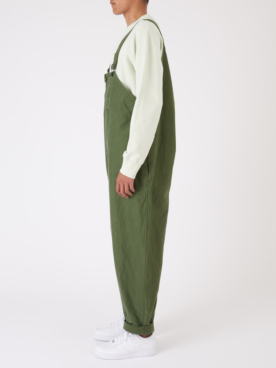 beams-plus-Olive-Military-Overall-on-body