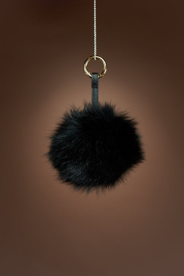 Fox Fur Keychain
