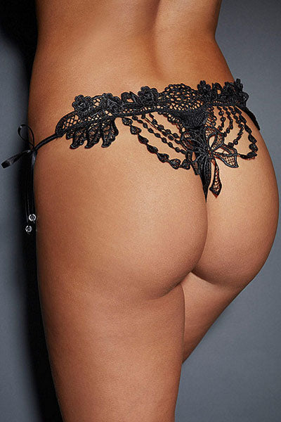 Embroidered & Beaded Lady Knicker