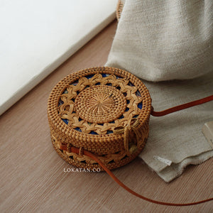 Full Braided Bali Rattan Bag