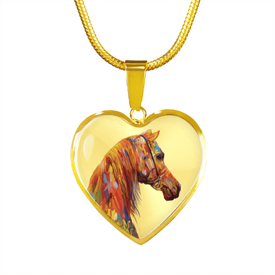 Arabesque - Gold Necklace - Heart