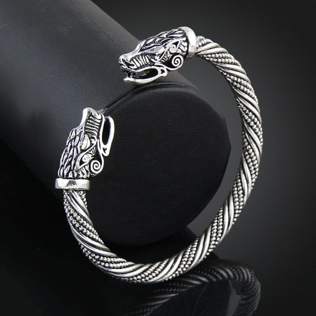 Wolf Head Viking Bracelet