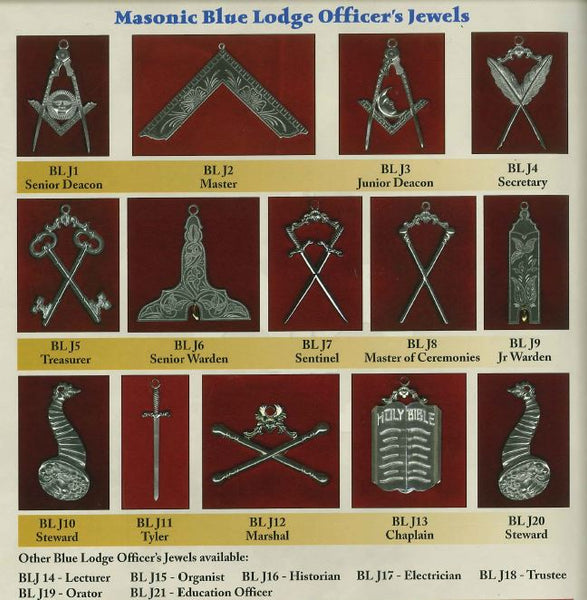 Blue Lodge Officer's Jewel Set