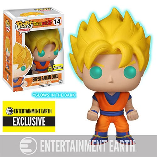 Dragon Ball Z Glow-in-the-Dark Super Saiyan Goku Pop! Vinyl Figure