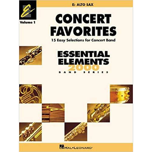Concert Favorites Vol. 1 - Eb Alto Sax: Essential Elements 2000 Band Series