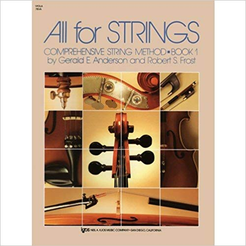All Strings Comprehensive String Method Book 1 for Viola by Gerald E. Anderson and Robert S. Frost