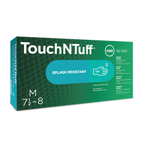 Ansell 92-500 TouchNTuff Nitrile Gloves Powdered