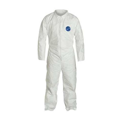 Dupont Tyvek 400 Disposable Coveralls TY125SWH Collar Elastic Wrists and Ankles Case of 25