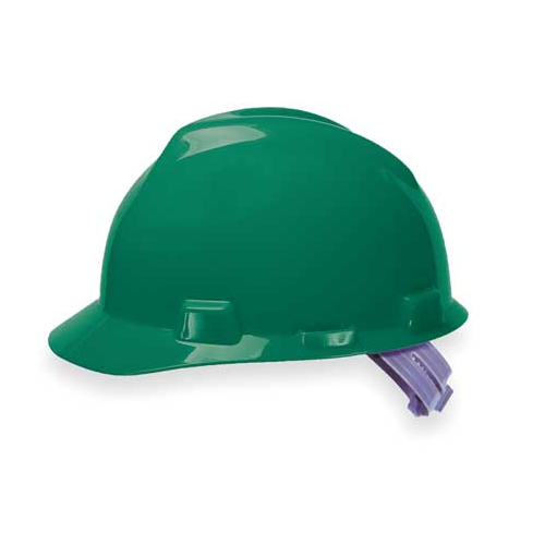MSA 463946 V-Gard Green Hard Hat Staz-On-Pinlock