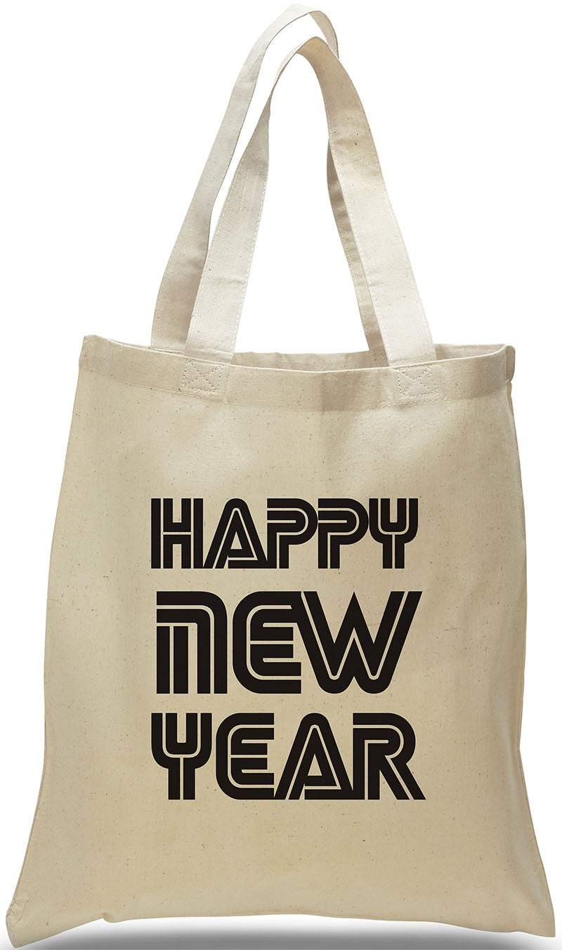 Happy New Year Canvas Tote, Made of 100% Cotton Canvas Just $3.99.