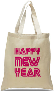 Happy New Year Canvas Tote, Made of 100% Cotton Canvas Just $3.99