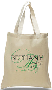 All Cotton Canvas Tote for the Maid of Honor Just $3.99.