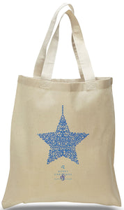 All Cotton Christmas Canvas Tote with Star Just $3.99 Each.