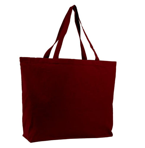 Wholesale Jumbo All Cotton Canvas Tote with Zippered Closure Just $3.19 Each.