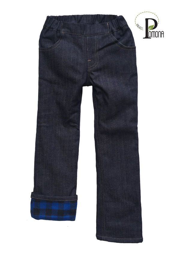 Project Pomona Flannel Lined Jeans in Stretch Waist (options)