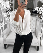 2019 Summer Long Sleeve Solid Color Blouse