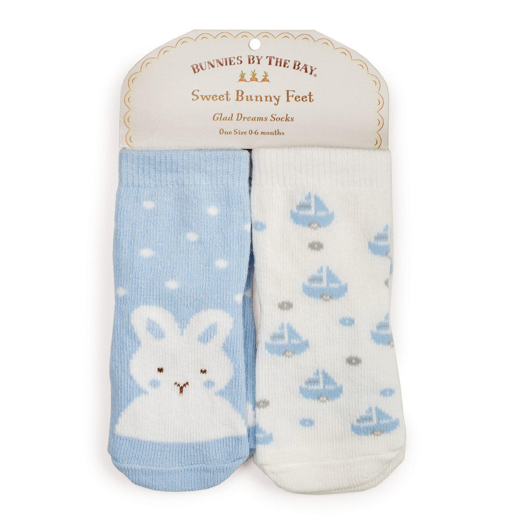 Image of Best Friends Socks - 2 pair-Apparel-Bunnies By the Bay-0-6 months-Blue/White-bbtbay