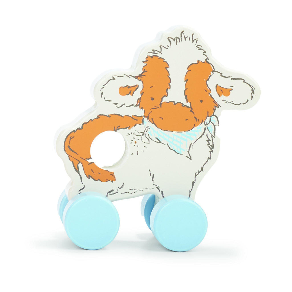 Image of Moo Moo Cow Push Toy-Push Pull Toy-Bunnies By the Bay-bbtbay