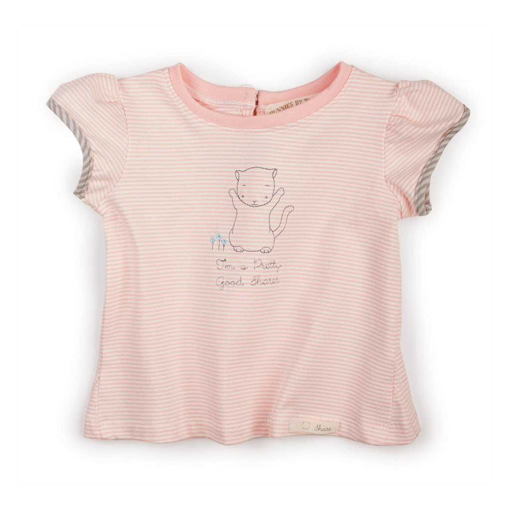 Image of Purr-ty Shirt-Apparel-Bunnies By the Bay-12 months-Pink Stripe-bbtbay