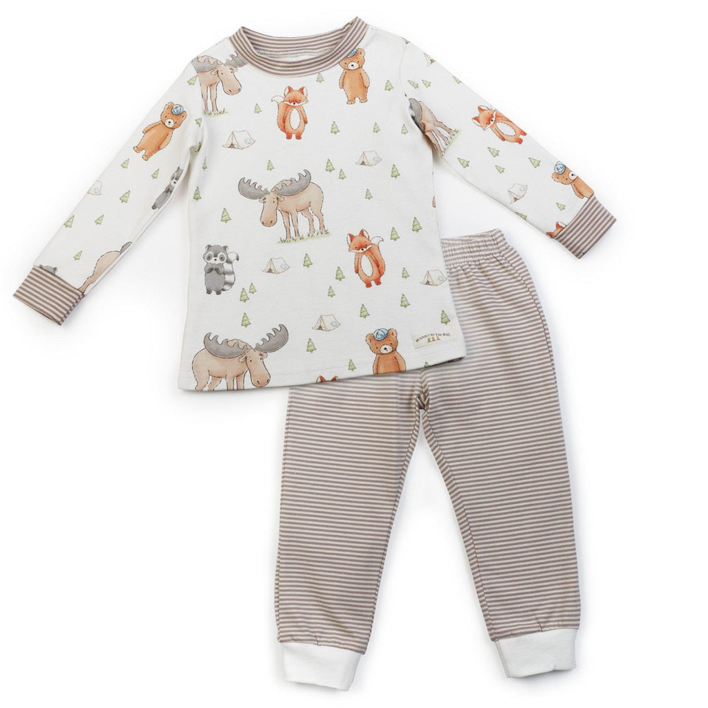 Image of Camp Cricket Camp Out Set-Apparel-Bunnies By The Bay-12-18 months-Forest Friends Print-bbtbay