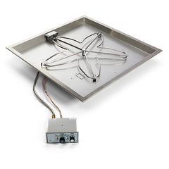 "HPC_30""_PENTA_Square_Bowl_Pan_Gas_Fire_Pit_Insert"